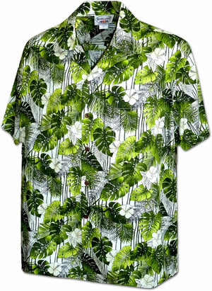 Tropical Blast Green Hawaiian Shirt