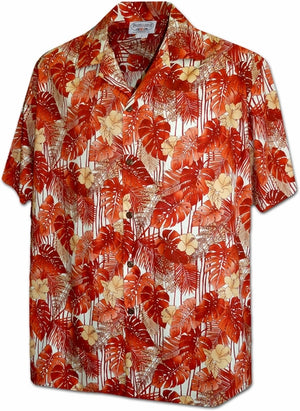 Tropical Blast Orange Hawaiian Shirt