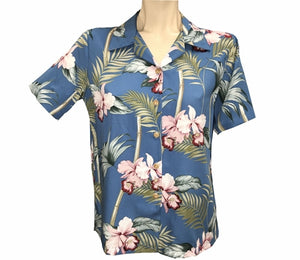 Women's Bamboo Orchid Blue Campshirt