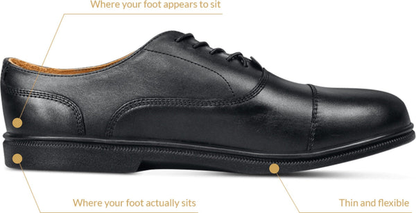 Carets dress shoe details