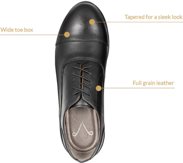 Carets mens dress shoe features