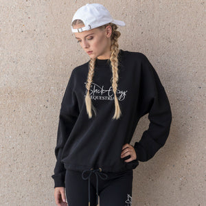Ladies Oversize Slouch Sweater - Black