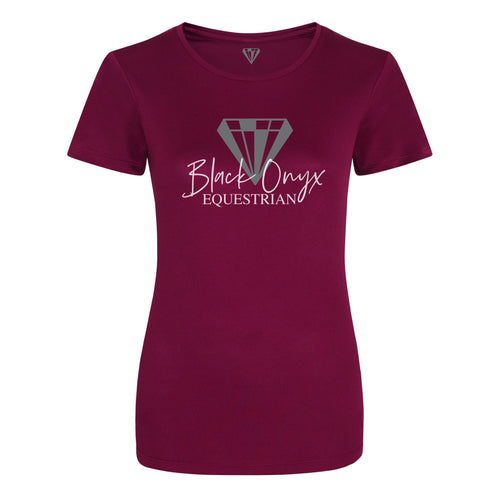 Ladies Keep Cool Performance T-Shirt - Burgundy