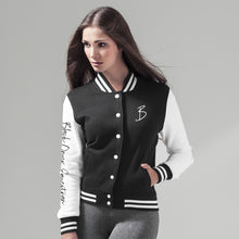 Load image into Gallery viewer, Ladies College Sweater Jacket - Black & White