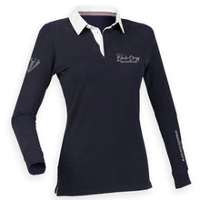 Load image into Gallery viewer, Ladies Slim Fit Premium Rugby Shirt - Navy