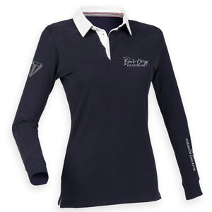 Ladies Slim Fit Premium Rugby Shirt - Navy