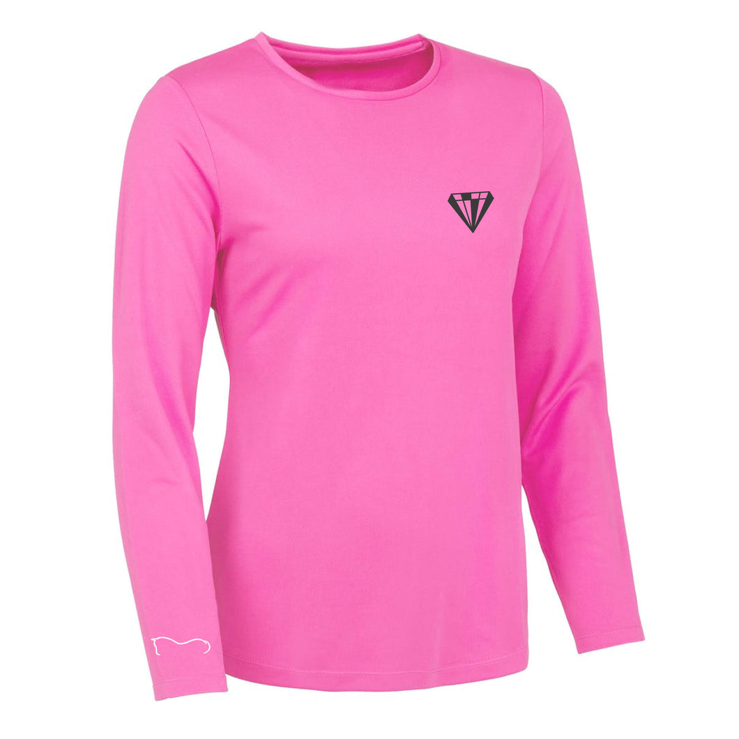Ladies High Visibility Performance Top - Pink