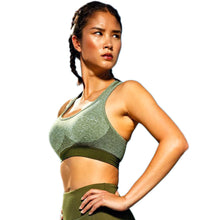 Load image into Gallery viewer, Seamless 3D Sculpt Sports Bra - Olive