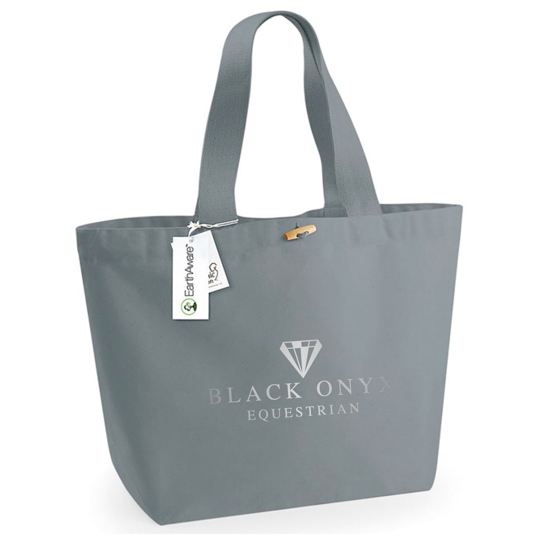 Black Onyx EarthAware® Organic Tote Bag XL - Grey