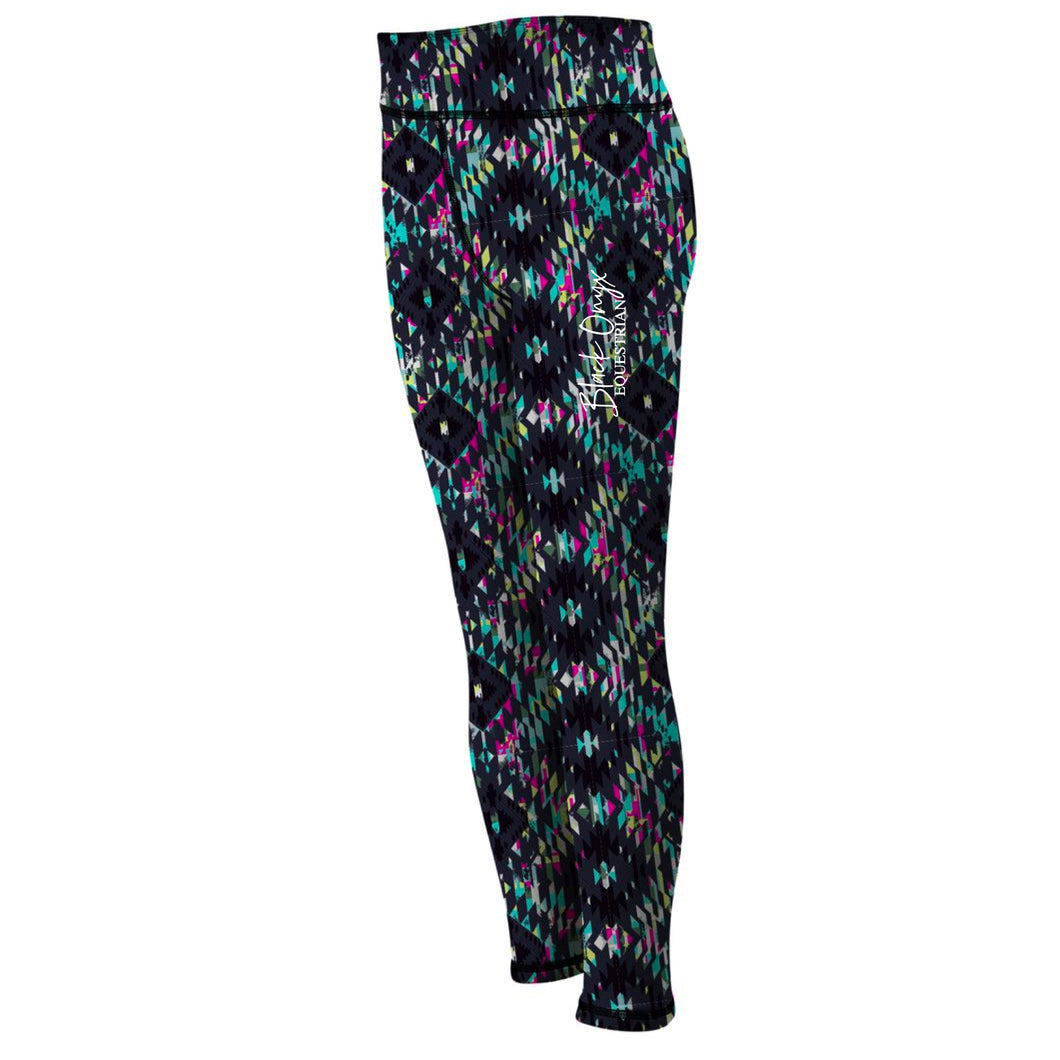 Ladies Reversible Mucker Leggings - Aztec Print