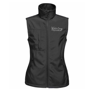 Ladies Soft Shell Gilet - Black