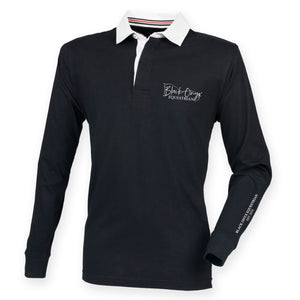 Men's Slim Fit Premium Rugby Shirt - Black