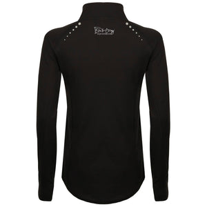 Ladies Performance Zip Up Base Layer - Black