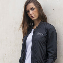 Load image into Gallery viewer, Ladies Bomber Jacket - Black