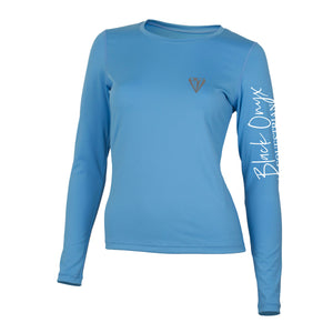 Ladies Crew Base Layer - Light Blue
