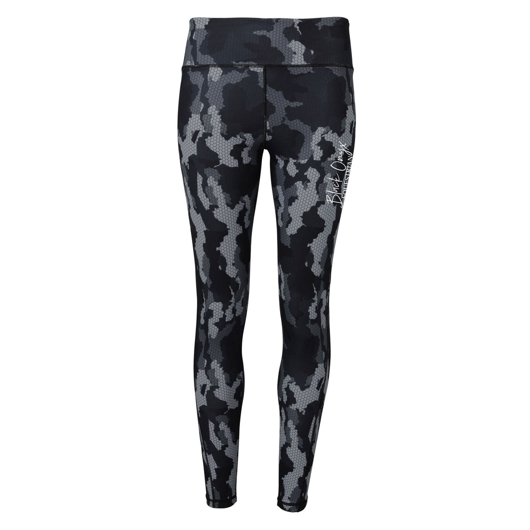 Ladies Camo Print Mucker Leggings - Grey