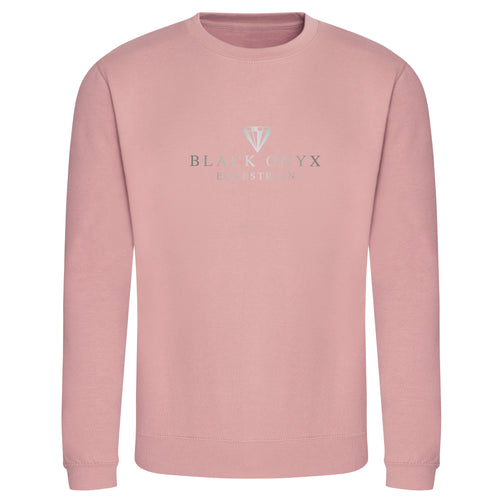 Metallic Unisex Drop Shoulder Sweatshirt - Dusty Pink
