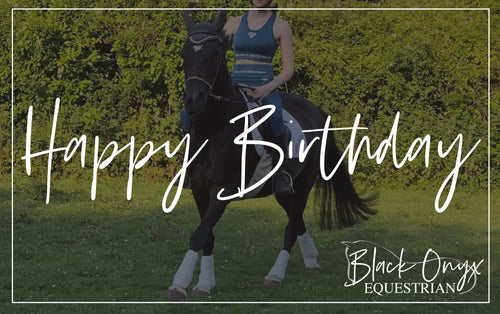 Black Onyx Equestrian eGift Card - Happy Birthday