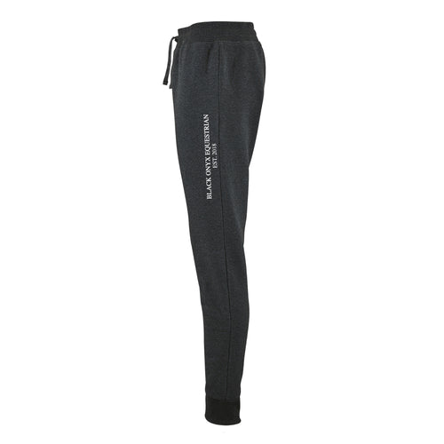 Ladies Slim Fit Jog Pants - Charcoal