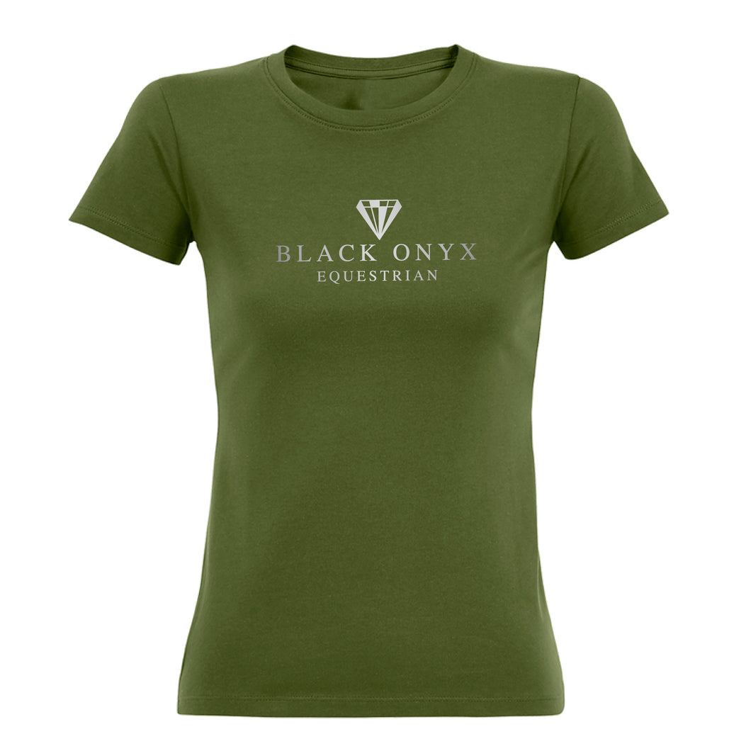 Ladies Imperial Metallic T-Shirt - Khaki