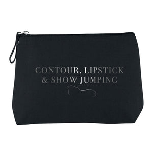 Show Jumping Cosmetic Bag - Black