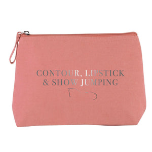 Show Jumping Cosmetic Bag - Dusty Pink