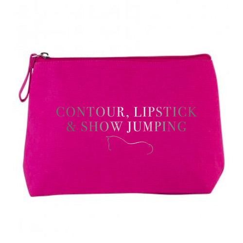 Show Jumping Cosmetic Bag - Hot Pink