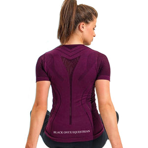 Ladies Seamless Signature Performance Top - Mulberry