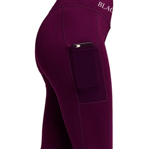 Ladies Seamless Signature Leggings - Mulberry