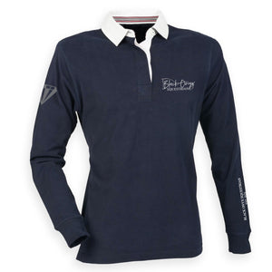 Men's Slim Fit Premium Rugby Shirt - Navy