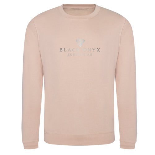 Metallic Unisex Drop Shoulder Sweatshirt - Nude