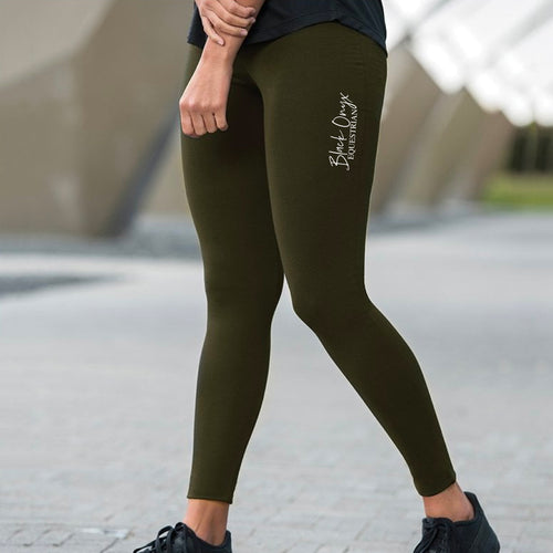 Ladies Everyday Mucker Leggings - Olive Green
