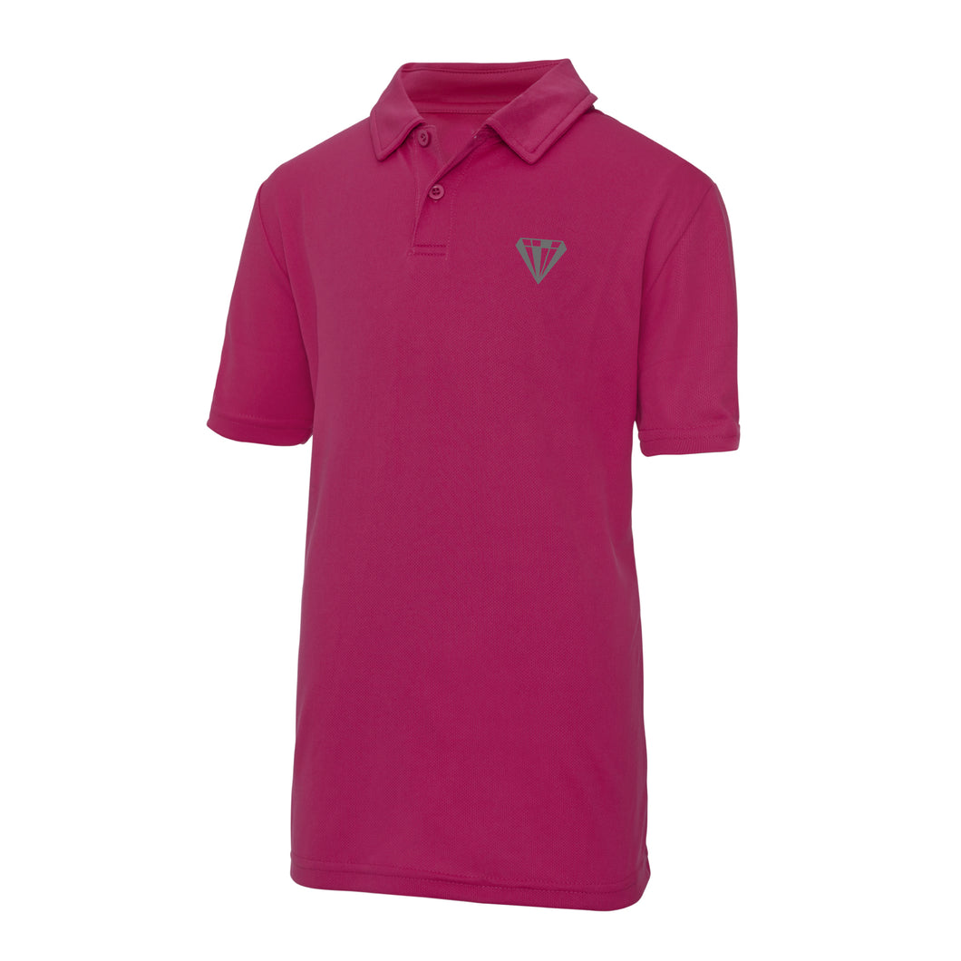 Young Talent Keep Cool Performance Polo - Pink