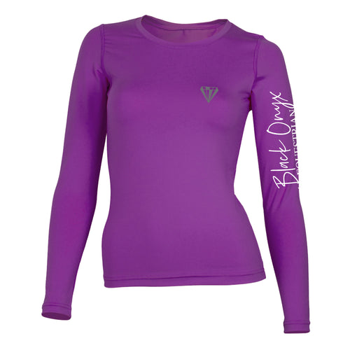 Ladies Crew Base Layer - Purple