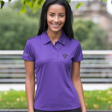 Load image into Gallery viewer, Ladies Keep Cool Performance Polo Shirt - Purple