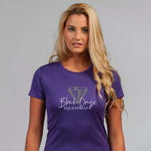 Load image into Gallery viewer, Ladies Keep Cool Performance T-Shirt - Purple