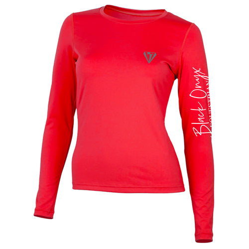 Ladies Crew Base Layer - Red