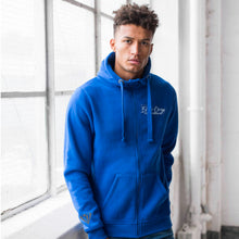 Load image into Gallery viewer, Unisex Full Zip Chunky Hoodie - Royal Blue