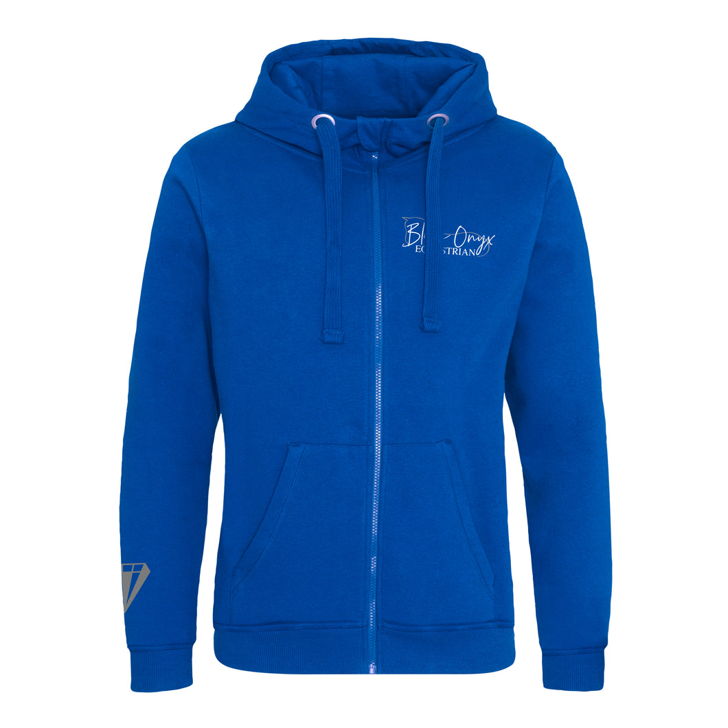Unisex Full Zip Chunky Hoodie - Royal Blue