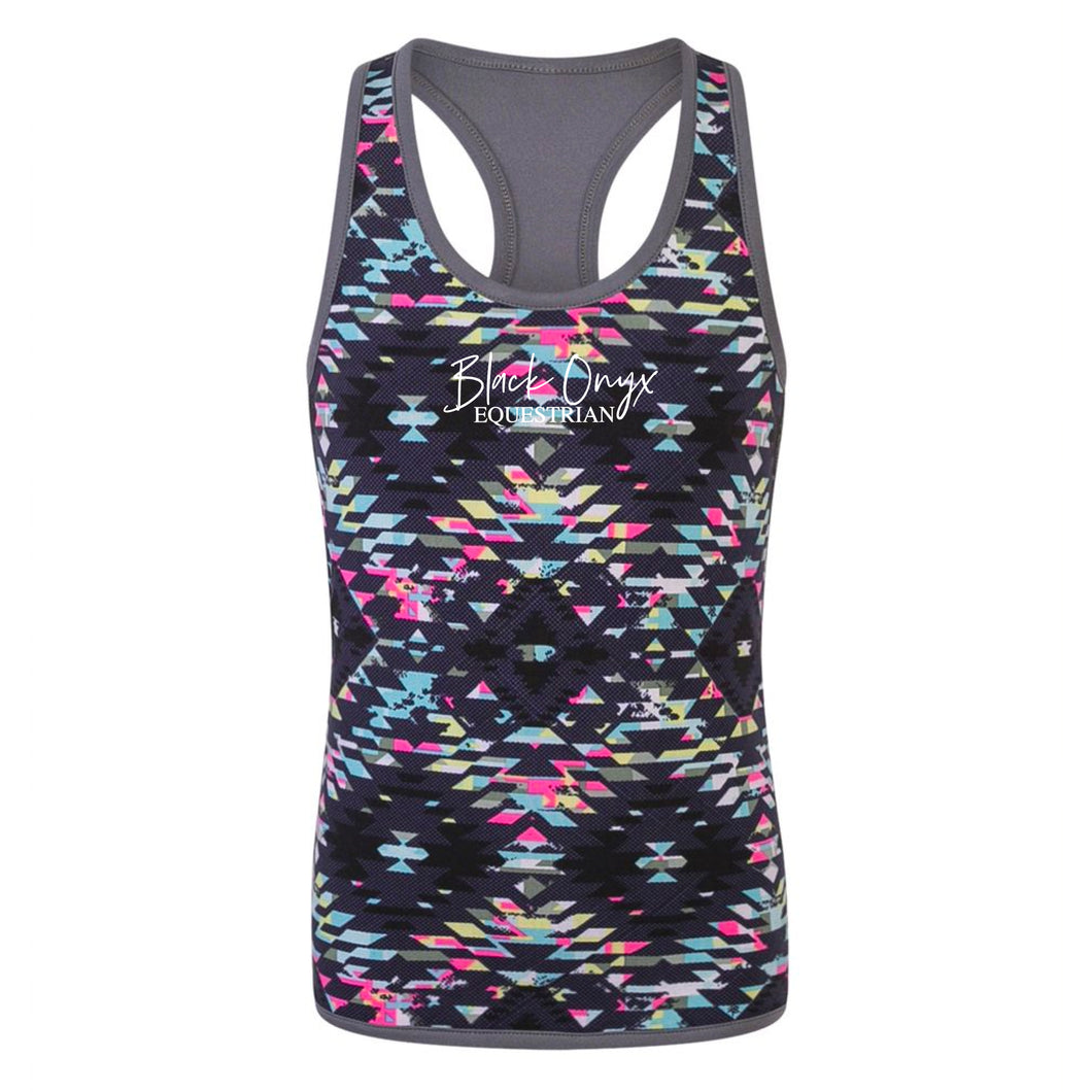 Ladies Reversible Training Vest - Aztec Print