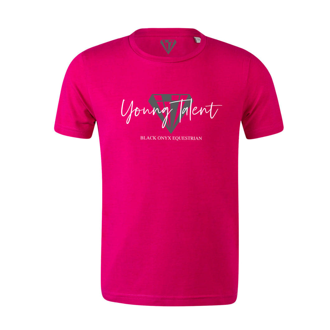 Young Talent Signature Crew Neck T-Shirt - Pink