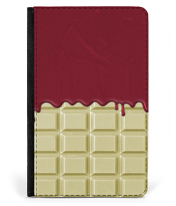 iPad 2/3/4 Faux Leather Flip Case White Chocolate-Strawberry Jam Sauce