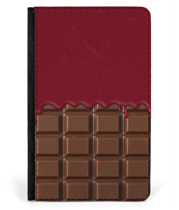 iPad 2/3/4 Faux Leather Flip Case Chocolate-Strawberry Jam Sauce