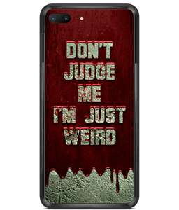 Premium Hard Phone Cases Just Weird Blood Wall