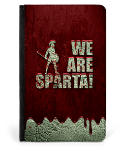 iPad 2/3/4 Faux Leather Flip Case Sparta! Blood Wall