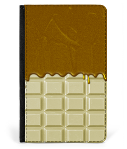 iPad 2/3/4 Faux Leather Flip Case White Chocolate-Caramel Sauce