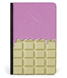 iPad 2/3/4 Faux Leather Flip Case White Chocolate-Pink Sauce