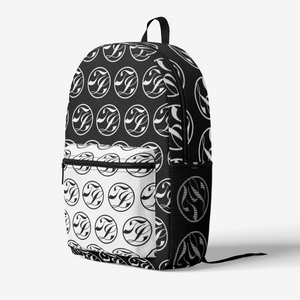 Trixie Lee Emblem Retro Colorful Print Trendy Backpack