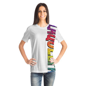Amy LaQueefa rainbow/white PREMIUM t-shirt