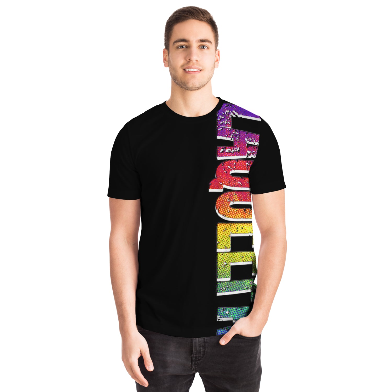 Amy LaQueefa rainbow/black PREMIUM t-shirt